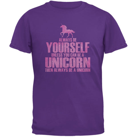 Always Be Yourself Unicorn Purple Youth T-Shirt