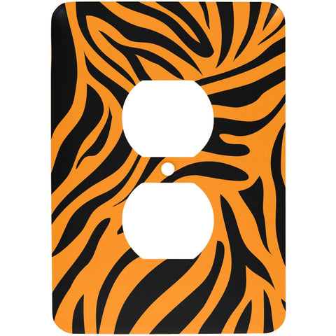 Zebra Print Orange Outlet Cover