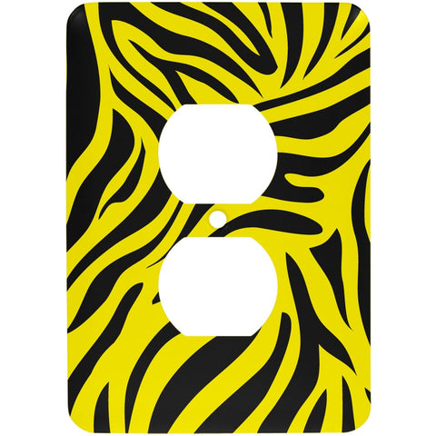 Zebra Print Yellow Outlet Cover