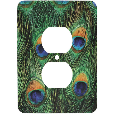 Peacock Feathers Outlet Cover