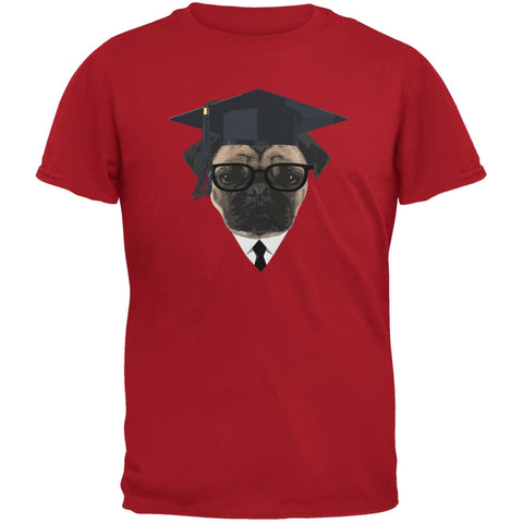 Graduation - Graduate Pug Funny Red Adult T-Shirt