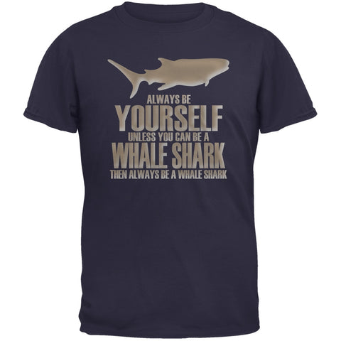 Always Be Yourself Whale Shark Navy Youth T-Shirt
