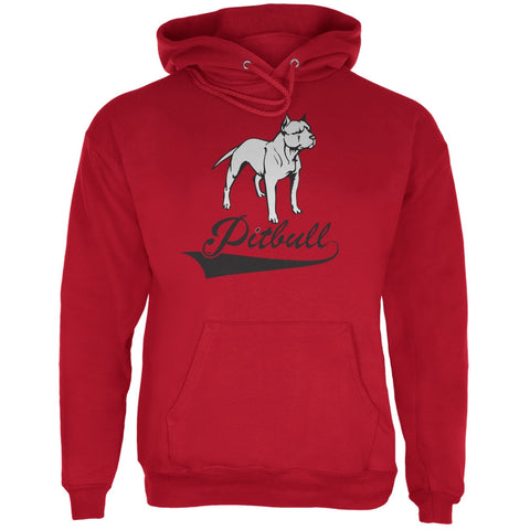 Pit Bull Red Adult Hoodie