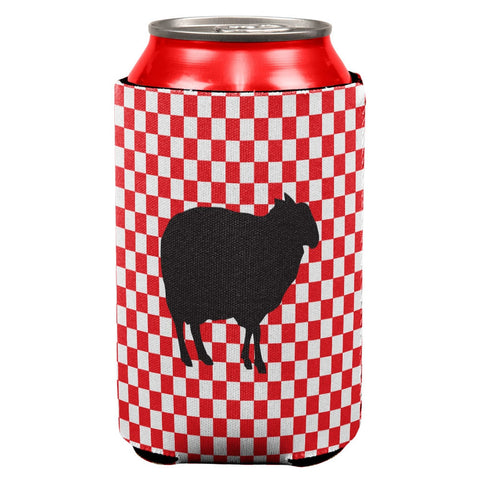 Country Kitchen Checkerboard Sheep Can Cooler