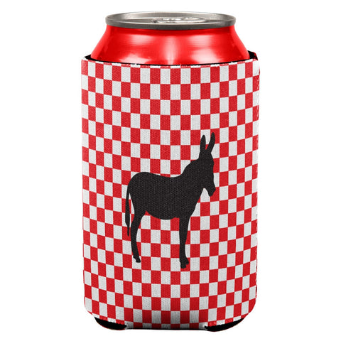 Country Kitchen Checkerboard Donkey Can Cooler