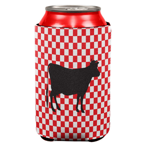 Country Kitchen Checkerboard Cow Can Cooler