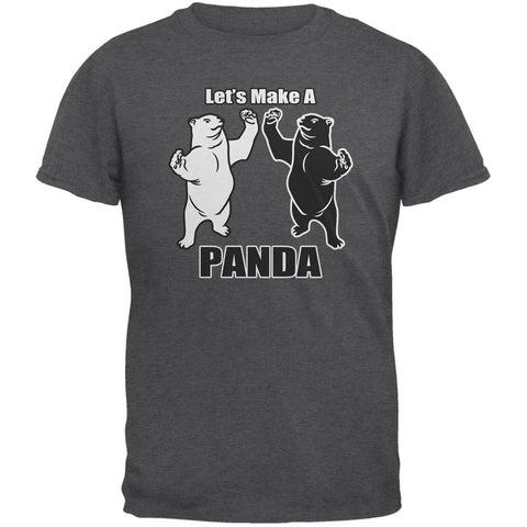 Let's Make A Panda Funny Dark Heather Adult T-Shirt