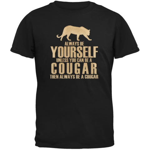 Always Be Yourself Cougar Black Youth T-Shirt