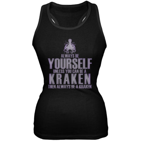 Always Be Yourself Kraken Black Juniors Soft Tank Top