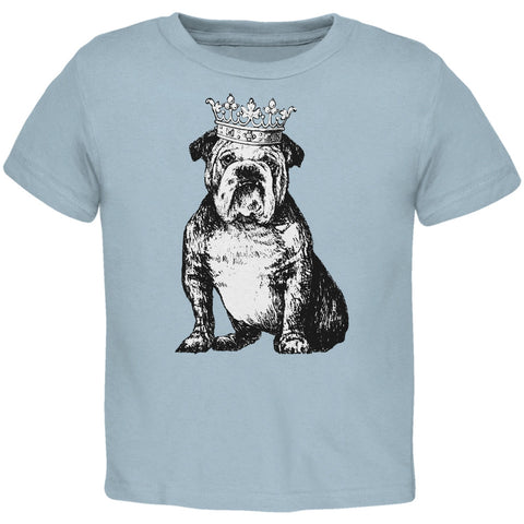 Bulldog Crown Light Blue Toddler T-Shirt