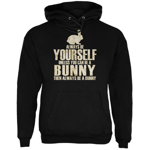 Always Be Yourself Bunny Black Adult Hoodie