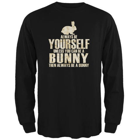 Always Be Yourself Bunny Black Adult Long Sleeve T-Shirt