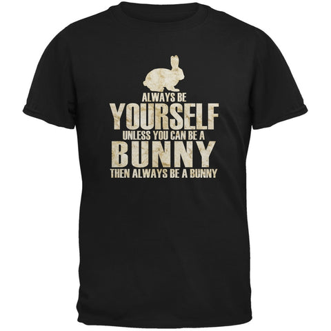 Always Be Yourself Bunny Black Adult T-Shirt