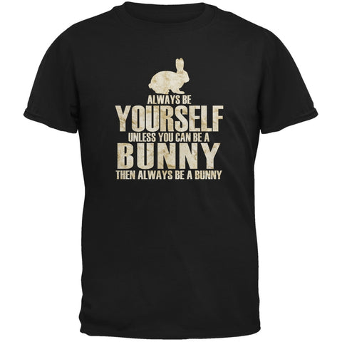 Always Be Yourself Bunny Black Youth T-Shirt