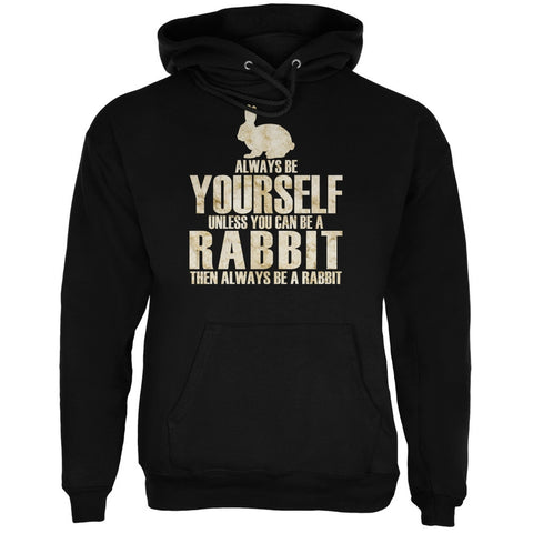 Always Be Yourself Rabbit Black Adult Hoodie