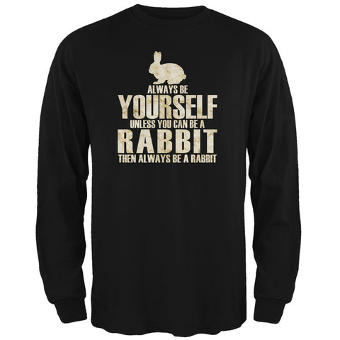 Always Be Yourself Rabbit Black Adult Long Sleeve T-Shirt