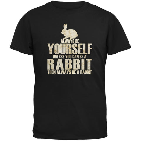Always Be Yourself Rabbit Black Youth T-Shirt