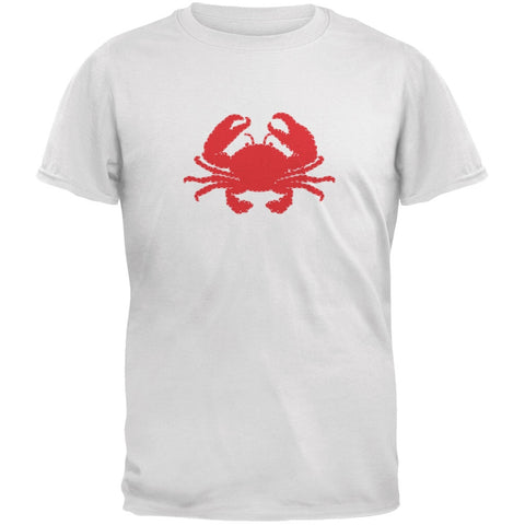 Summer - Crab Faux Stitched White Youth T-Shirt