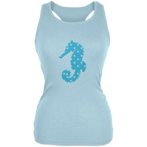 Summer - Seahorse Faux Stitched Juniors Soft Tank Top