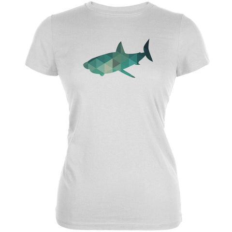 Shark Geometric White Juniors Soft T-Shirt