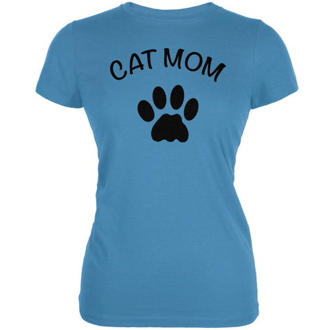 Mother's Day - Cat Mom Aqua Juniors Soft T-Shirt