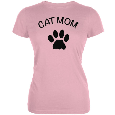 Mother's Day - Cat Mom Pink Juniors Soft T-Shirt