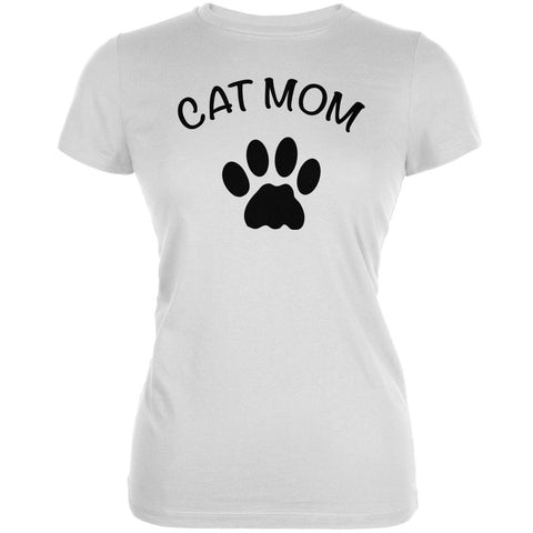 Mother's Day - Cat Mom White Juniors Soft T-Shirt