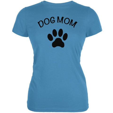Mother's Day - Dog Mom Aqua Juniors Soft T-Shirt