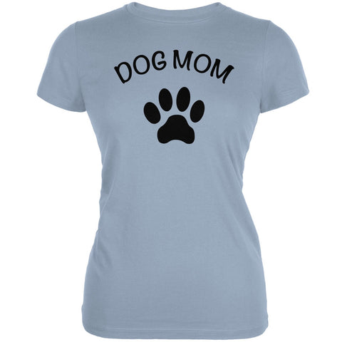 Mother's Day - Dog Mom Light Blue Juniors Soft T-Shirt