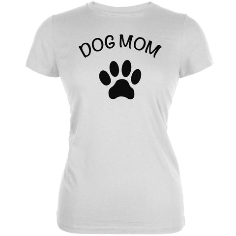 Mother's Day - Dog Mom White Juniors Soft T-Shirt