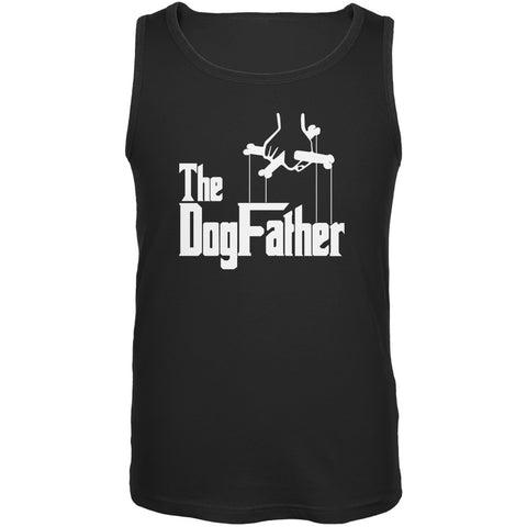 Fathers Day - The Dog Father Black Adult Tank Top