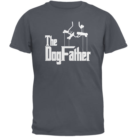 Fathers Day - The Dog Father Charcoal Grey Adult T-Shirt