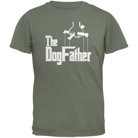Fathers Day - The Dog Father Military Green Adult T-Shirt