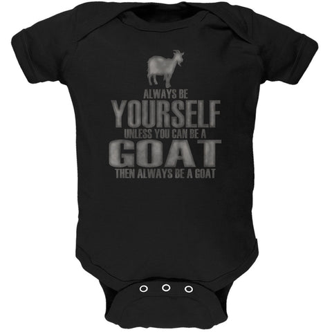 Always Be Yourself Goat Black Soft Baby One Piece