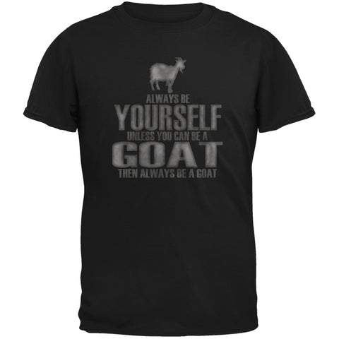 Always Be Yourself Goat Black Youth T-Shirt