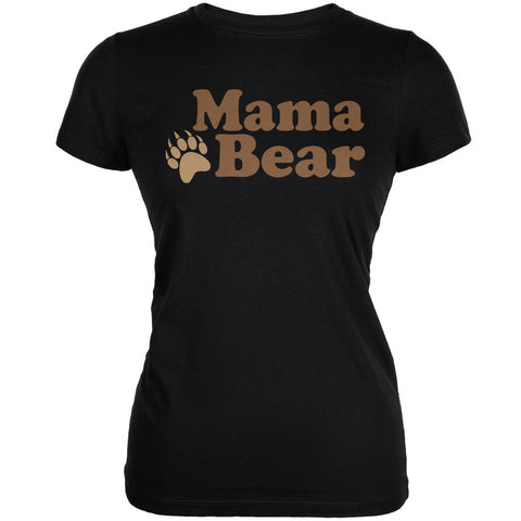 Mothers Day - Mama Bear Black Juniors Soft T-Shirt
