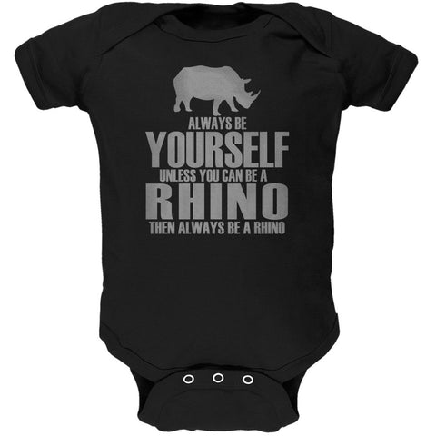 Always Be Yourself Rhino Black Soft Baby One Piece