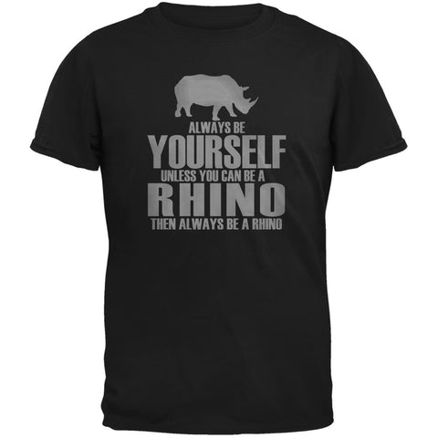 Always Be Yourself Rhino Black Youth T-Shirt