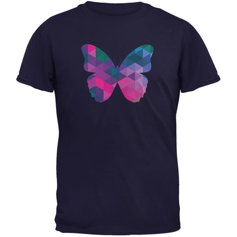 Butterfly Geometric Navy Adult T-Shirt