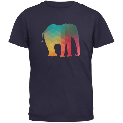 Elephant Geometric Navy Youth T-Shirt