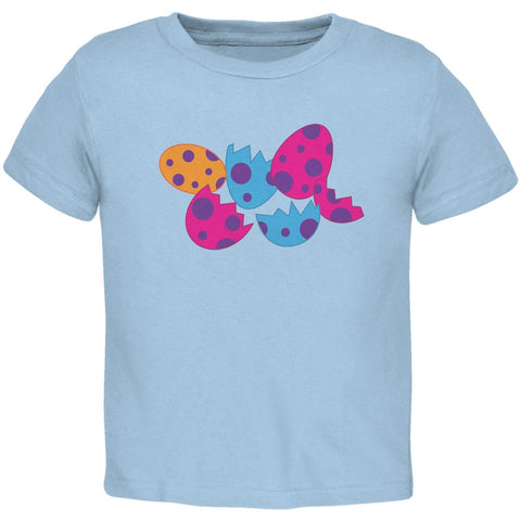 Jurassic Dinosaur Dino Eggs Light Blue Toddler T-Shirt