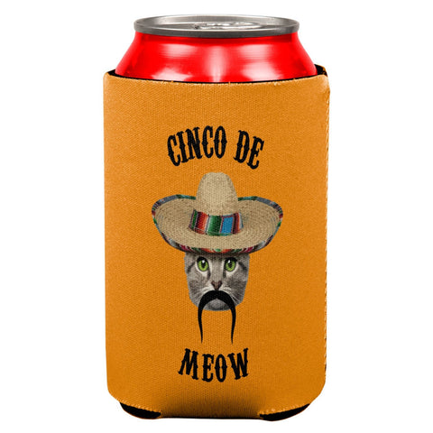 Funny Cat Cinco de Mayo Meow All Over Can Cooler