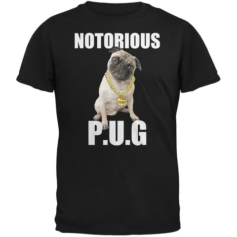 Notorious PUG Black Adult T-Shirt