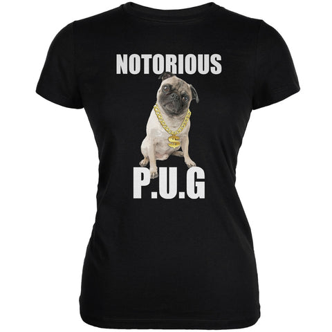 Notorious PUG Black Juniors Soft T-Shirt