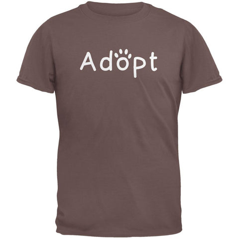 Adopt Cat Dog Paw Chestnut Adult T-Shirt