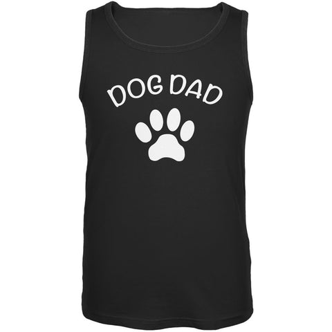Father's Day Dog Dad Black Adult Tank Top