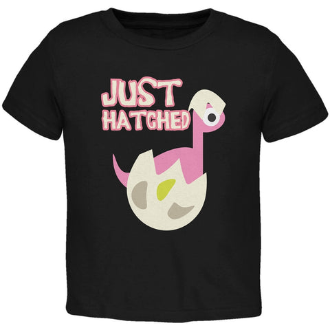 Just Hatched Baby Girl Black Toddler T-Shirt