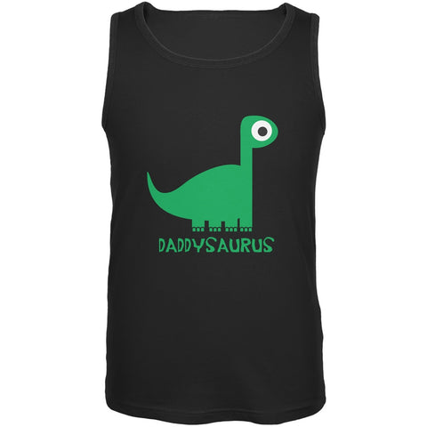 Daddysaurus Father and Child Black Adult Tank Top