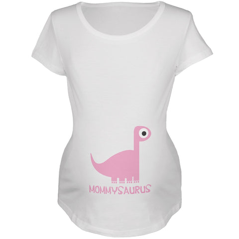 Mommysaurus Mother and Child White Maternity Soft T-Shirt