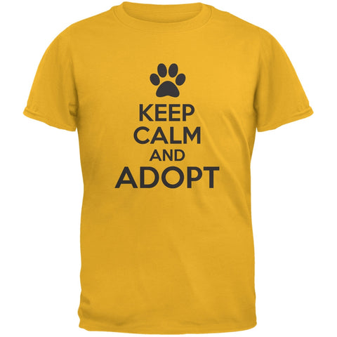 Keep Calm And Adopt Gold Adult T-Shirt